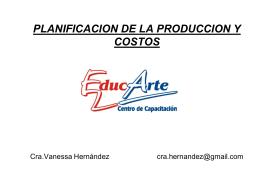 Planificación de la Producción y Costos