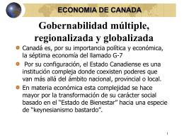 Gobernabilidad múltiple, regionalizada y globalizada