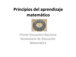 Principios del aprendizaje matemático