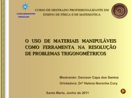 O uso de materiais manipuláveis como ferramenta