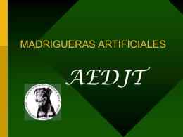MADRIGUERAS ARTIFICIALES