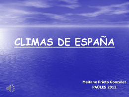 Los climas de España (Maitane Prieto)