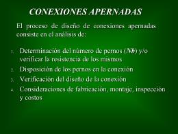 12.- Conexiones apernadas