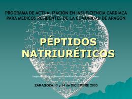 peptidos natriureticos - Jornadas de Actualizacion Insuficiencia