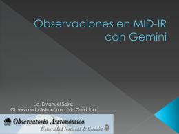 Observaciones en el infrarrojo medio con Gemini