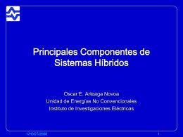 Principales Componentes de Sistemas Híbridos