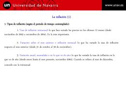 Inflacion - IES Dolmen de Soto