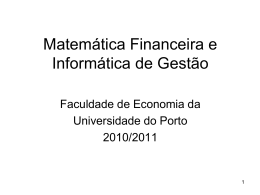 acetatos - FEP - Universidade do Porto