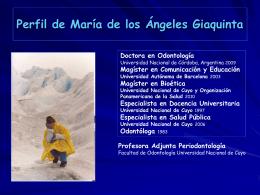 Perfil de María de los Ángeles Giaquinta