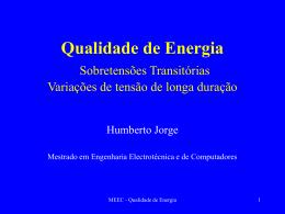 Sobretensões transitórias - Laboratório de Gestão de Energia