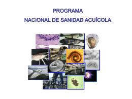 Programa Nacional de Sanidad Acuícola. Conapesca