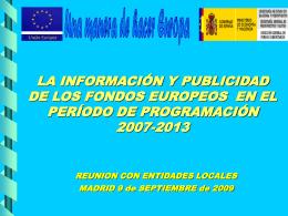 planes de comunicación - Dirección General de Fondos Comunitarios