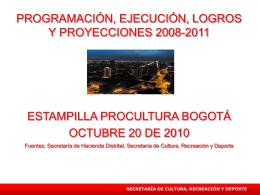 estampilla procultura - Secretaría de Cultura, Recreación y Deporte