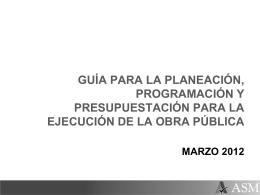 programación de la obra pública