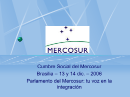 El Parlamento del MERCOSUR
