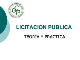 licitacion publica - Contaduría General de la Provincia de Corrientes