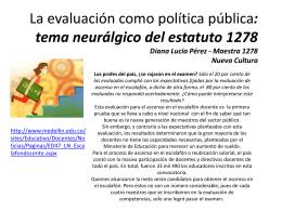 La evaluación como política pública: tema neurálgico del