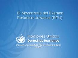 Presentación - Alto Comisionado de las Naciones Unidas para los