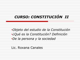 Qué es la Constitución?