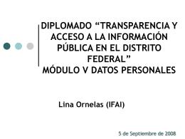 Presentación Datos Personales - Instituto de Acceso a la