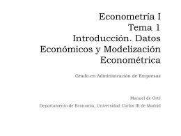 Introducción al Análisis Econométrico con Stata