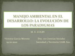 Presentación Martes 19 de octubre MANEJO AMBIENTAL EN EL