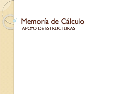 Presentación Memoria de cálculo