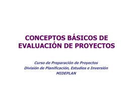 Evaluación de Proyectos Introducción