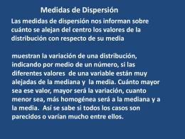 Est 14 medidas de dispersion