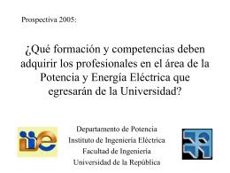 Presentación de lanzamiento - Instituto de Ingeniería Eléctrica