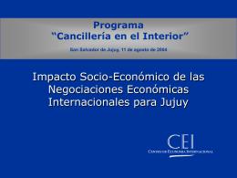 Jujuy - Centro de Economía Internacional
