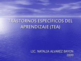 Trastornos Específicos del Lenguaje (Bayon)