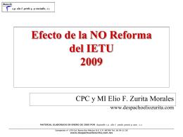 IETU - Despacho CP Elio T. Zurita y Asociados