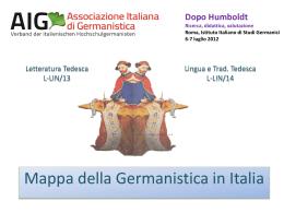 mappa della germanistica in Italia - AIG