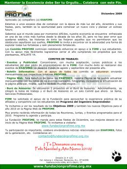 Diciembre_2009 - Fundacion Pro-FIME