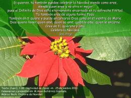 25 de diciembre de 2013 NACIMIENTO DE JESÚS