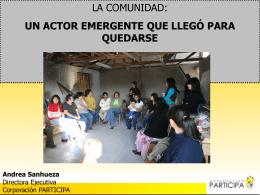 Participa, Andrea Sanhueza, Directora Ejecutiva