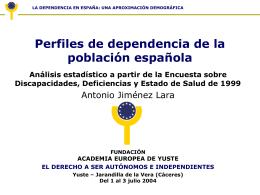 Epidemiología de la discapacidad en España