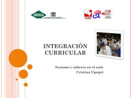 Integración Curricular - Sexismo y saberes en el aula
