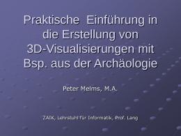 Praktische Einführung in die Erstellung von 3D-Visualisierungen