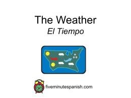 El Tiempo - SpanishTwo.Com