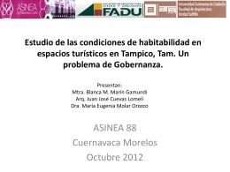 7. Estudio de las condiciones de habitabilidad en espacios
