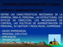 estudio administrativo y legal grupo empresarial
