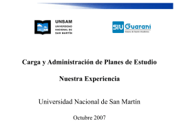 Metodología en Carga de Planes de Estudio