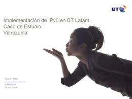 Implementación de IPv6. Comsat Venezuela. Caso de Estudio