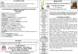 31 Marzo 2013 - Iglesia Cristiana Evangélica de Colmenar Viejo
