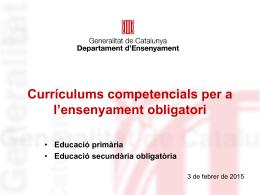 """Accés a la presentació del Departament """"Currículums"""