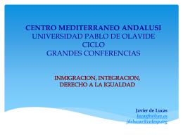 la Presentación PowerPoint de la ponencia de Javier de Lucas