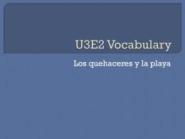 U3E2 Vocabulary