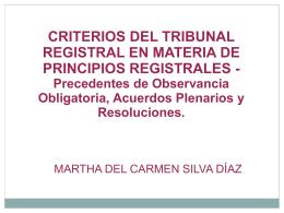 Precedentes de Observancia Obligatoria, Acuerdos Plenarios y